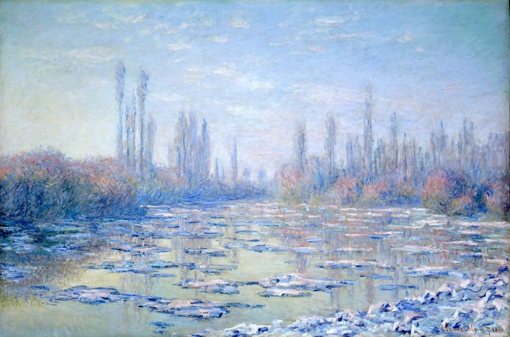 Claude Monet. Ice field