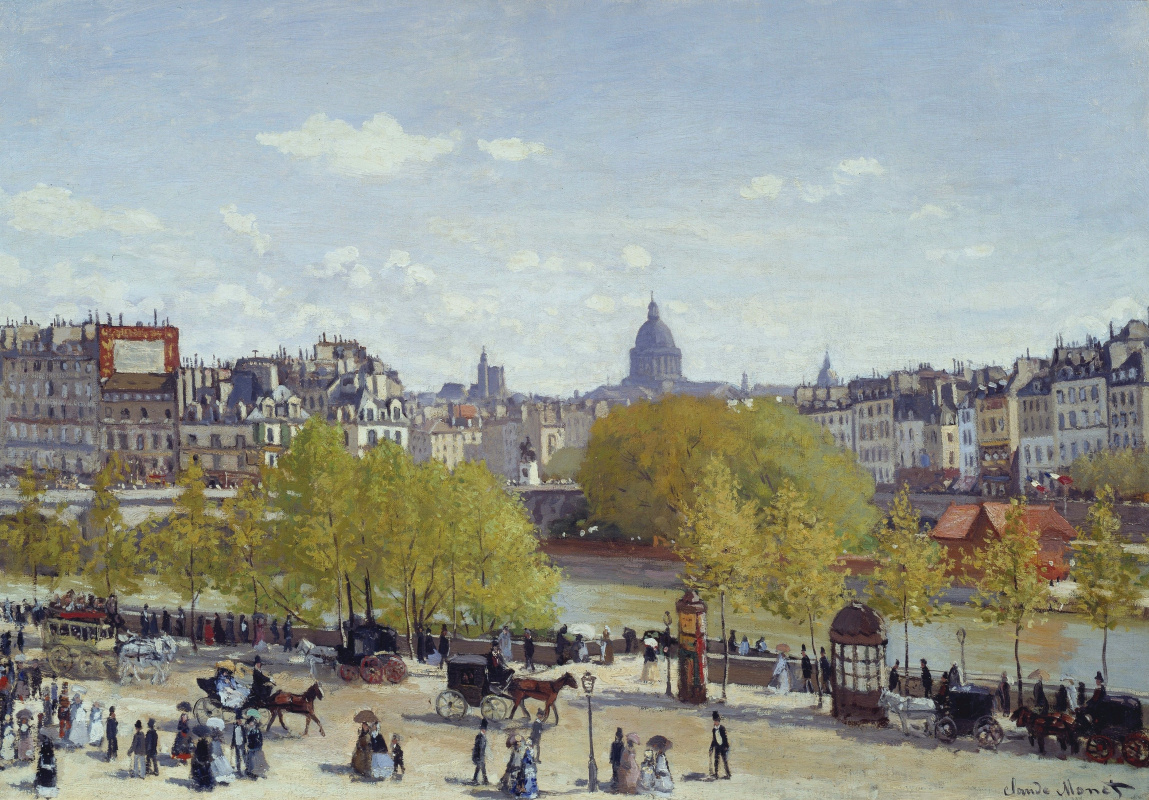 Claude Monet. Promenade at the Louvre