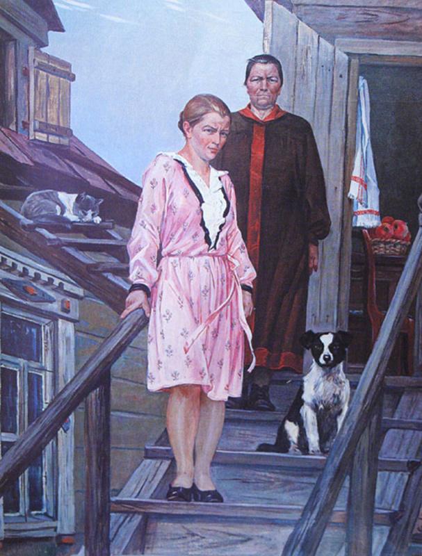 Александр Александрович Дейнека. Мать и сестра