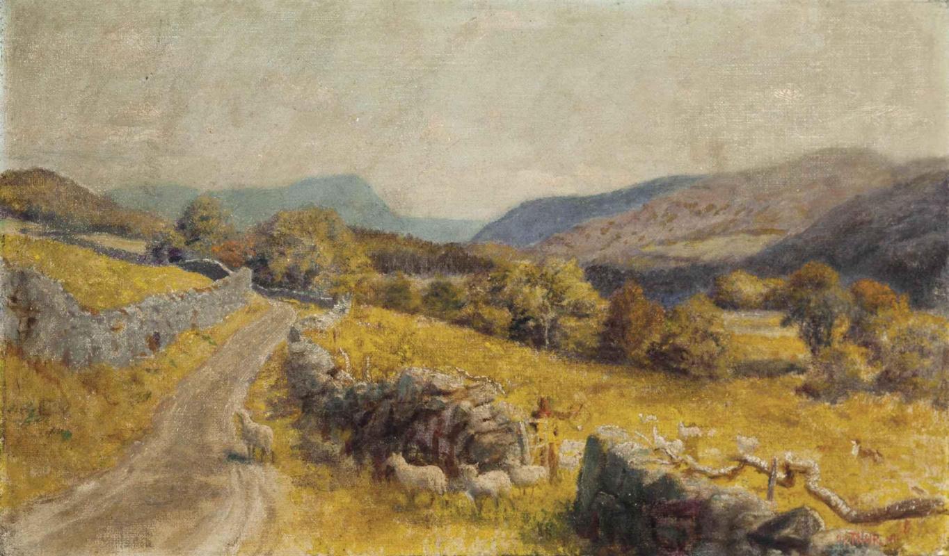 Arthur Hughes. Road to Beecher Lake, North Wales