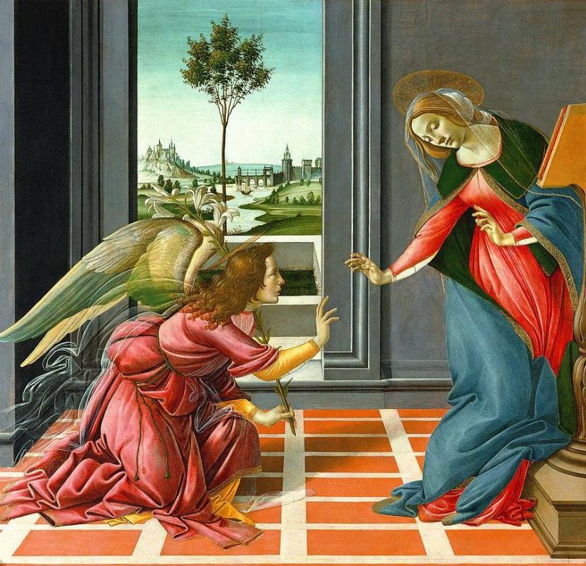 Sandro Botticelli. The Annunciation