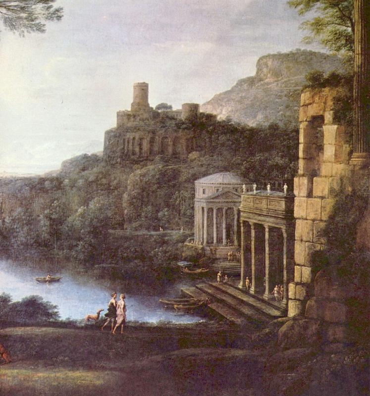 Клод Лоррен. Пейзаж с нимфой Эгерией и царем Нумой