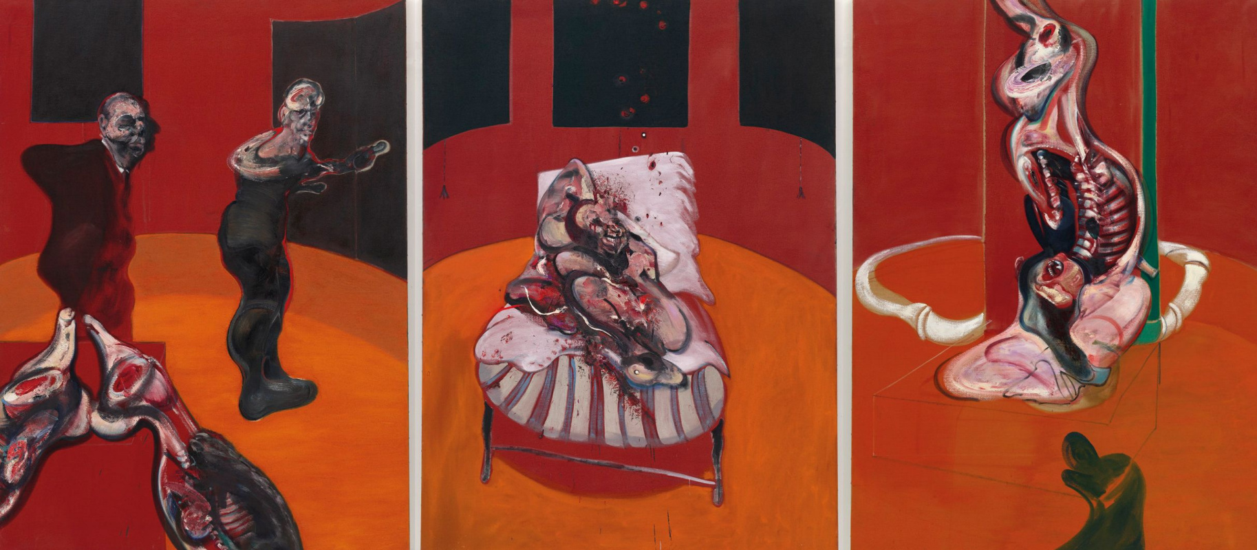 Francis Bacon. Three sketches for the crucifixion