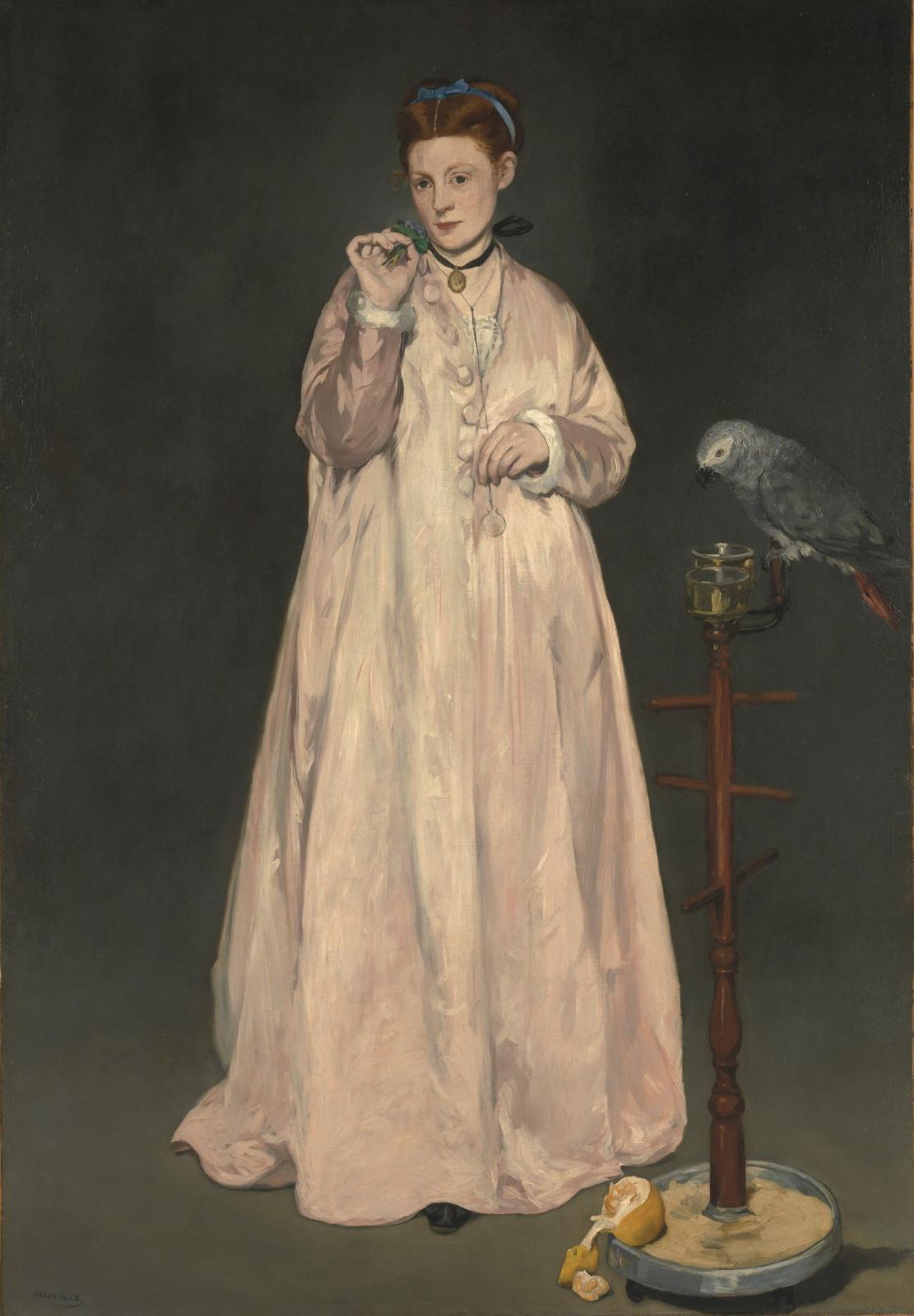 Эдуар Мане. Женщина с попугаем