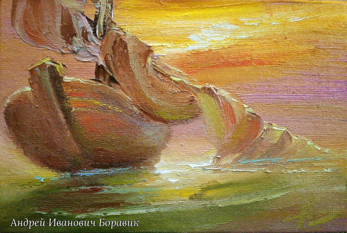 Andrei Ivanovich Boravik. Still water (sketch)