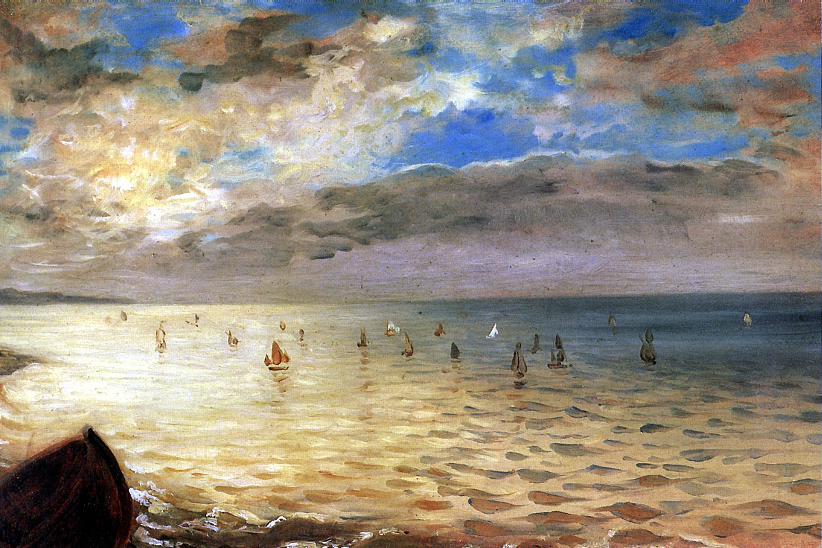 Eugene Delacroix. Sea views from the hills in Dieppe