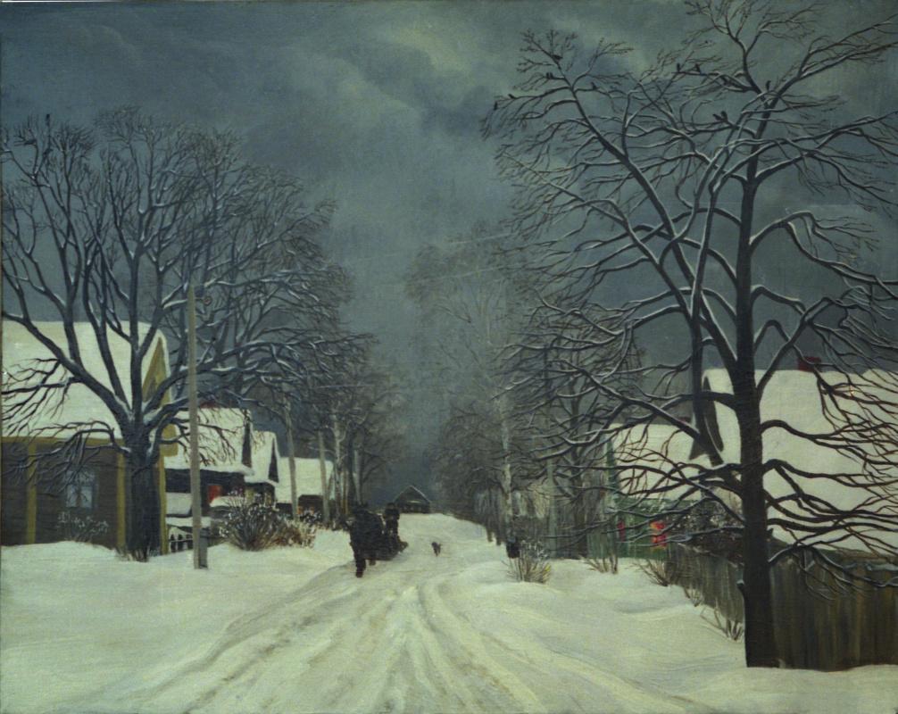 Marina Dmitrievna Razin. Winter in Ploskovo