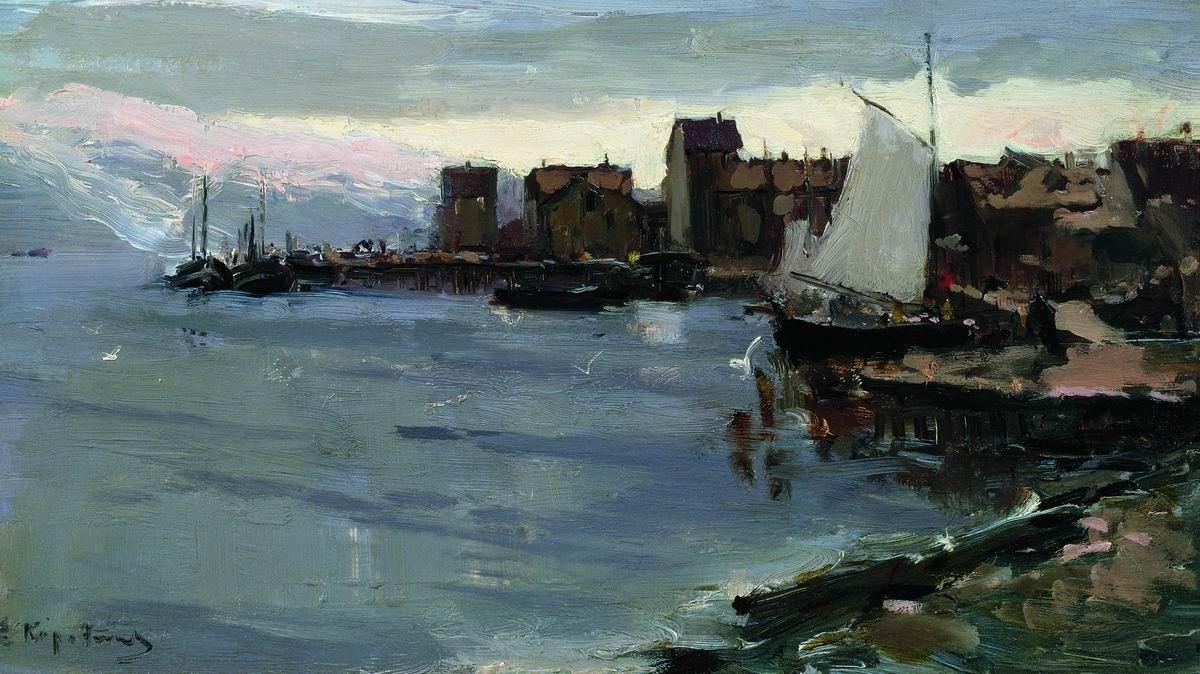 Konstantin Korovin. Harbor in Norway