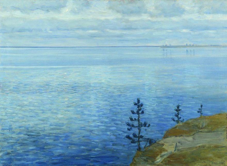 Witold Kaetanovich Byalynitsky-Birulya. The hour of silence. Lake Udomlya