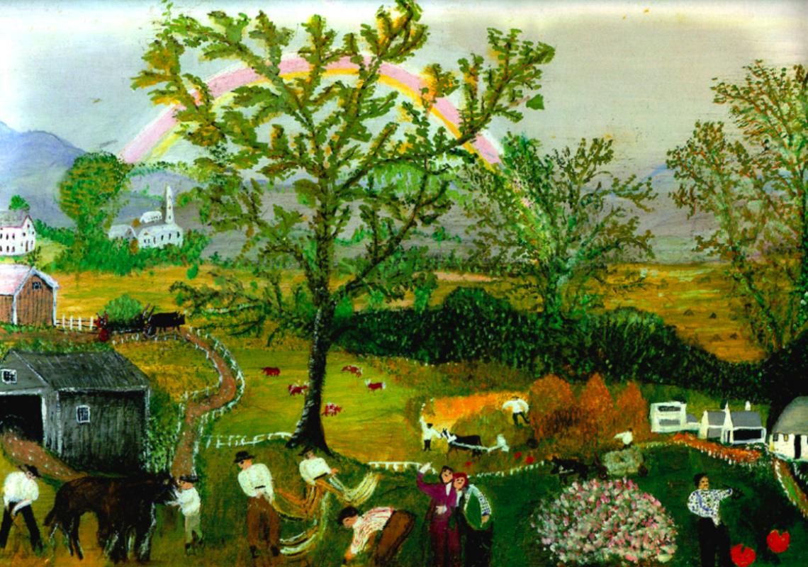 Grandmother (Anna Mary) Moses. Rainbow