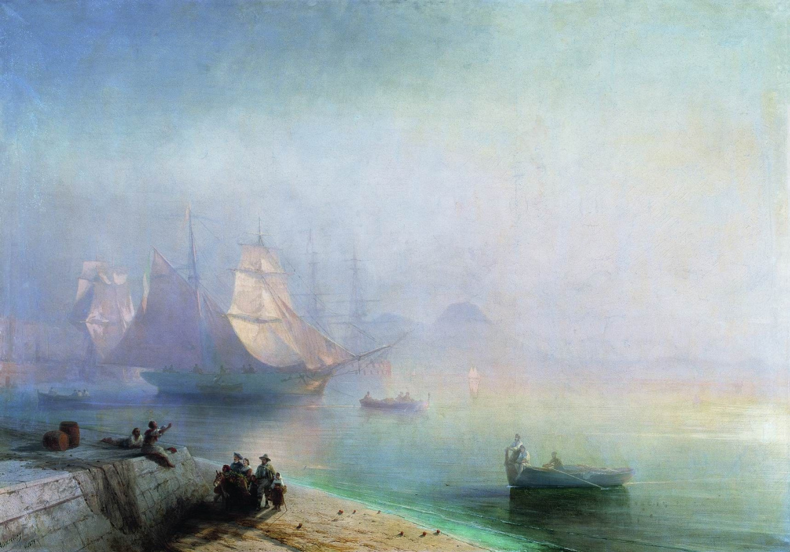 Ivan Aivazovsky. The Bay of Naples on a misty morning