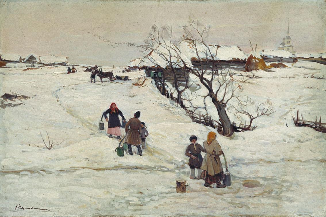 Konstantin Alexandrovich Veshchilov. Winter landscape