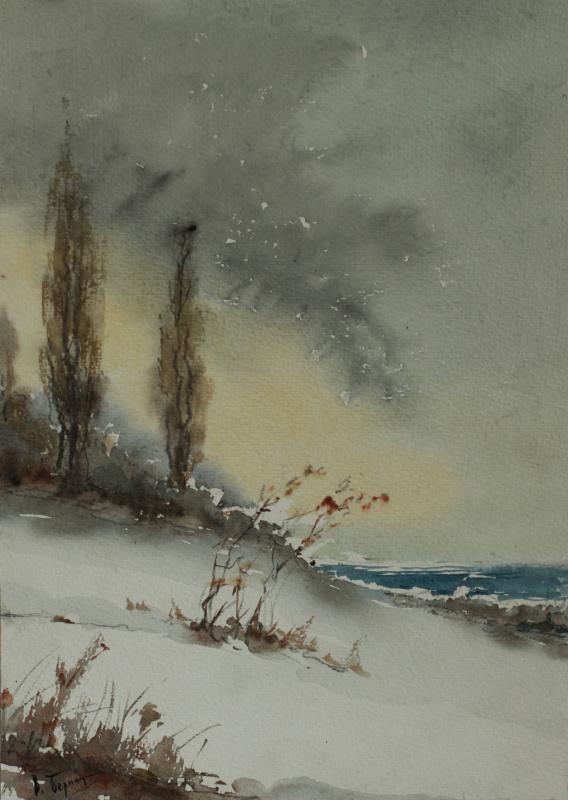 Владимир Алексеевич Бернадин. Два друга у моря
