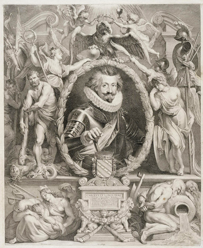 Лукас ван Ворстерман. Портрет Шарля де Лонгваля