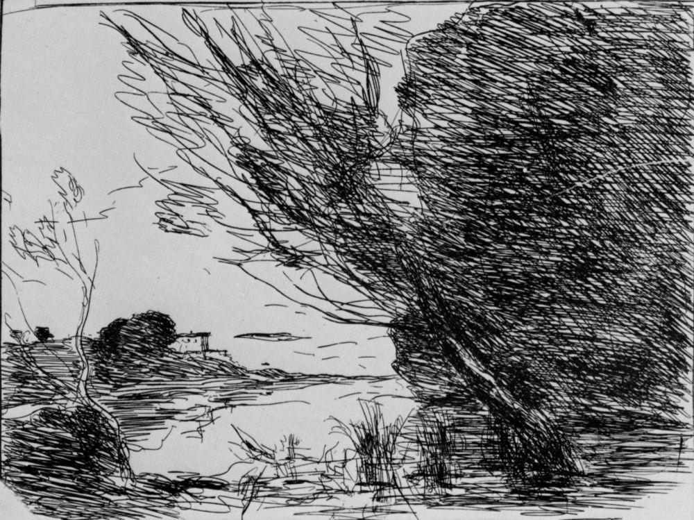 Камиль Коро. Воспоминание об озере Неми