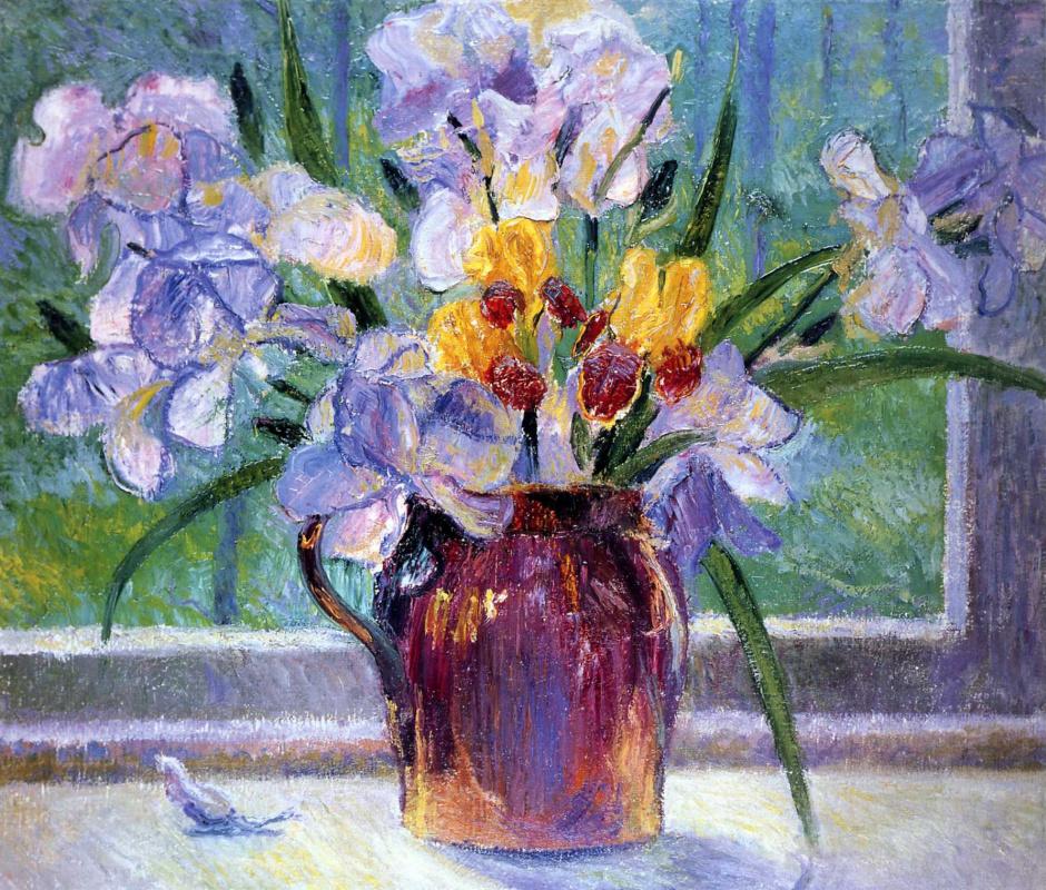 Bernhard Gutmann. The flowers on the window