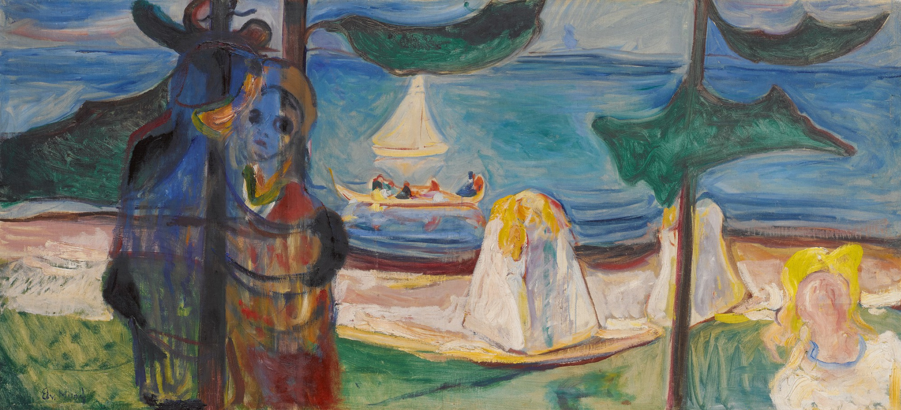 Edward Munch. Summer Day or Embrace on the Beach
