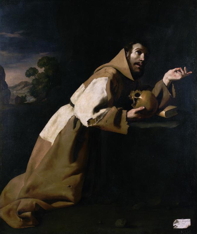 Francisco de Zurbaran. Saint Francis in prayer