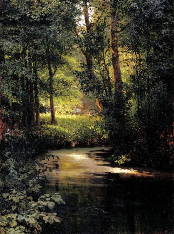 Лесной ручей. Весной