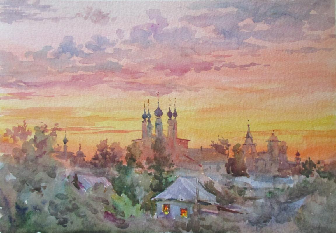 Fedor Dmitrievich Usachev. Falling asleep Suzdal