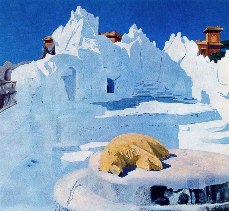 Жиль Эло. Медведь на снегу