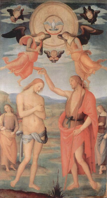 Пьетро Перуджино. Алтарь св. Августина. Крещение Христа
