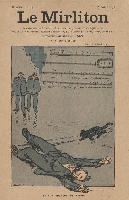 "Theophile-Alexander Steinlen. Illustration for the magazine ""Mirliton"" No. 85, August 18912 year"