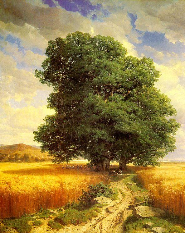 Александр Калам. Дерево у дороги