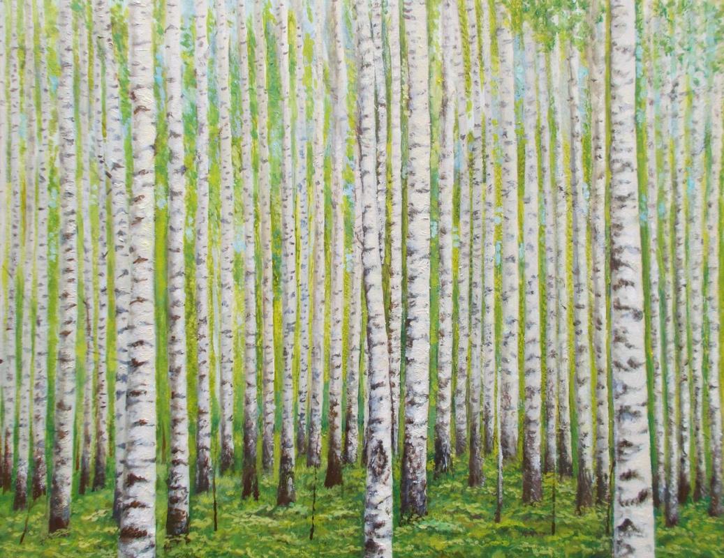Vladimir Vasilyevich Abaimov. Birch Grove