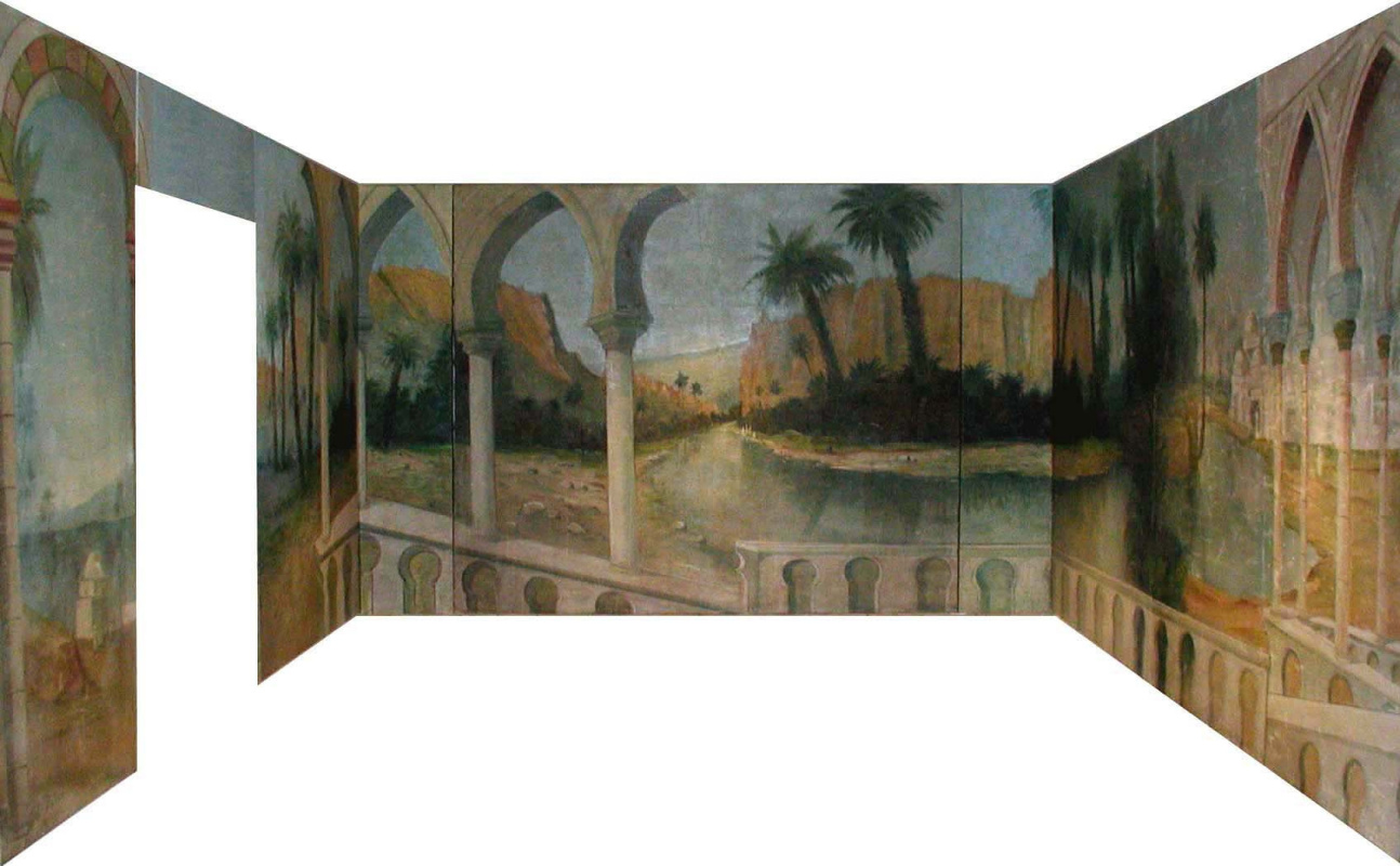 Sergey Konstantinov. Persian Room. Mural. San Francisco. Art studio Sergey Konstantinov San Francisco.