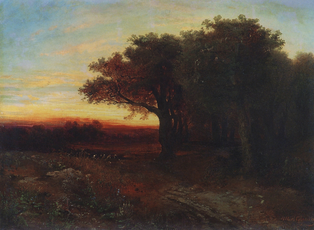 Alexey Savrasov. Sunset