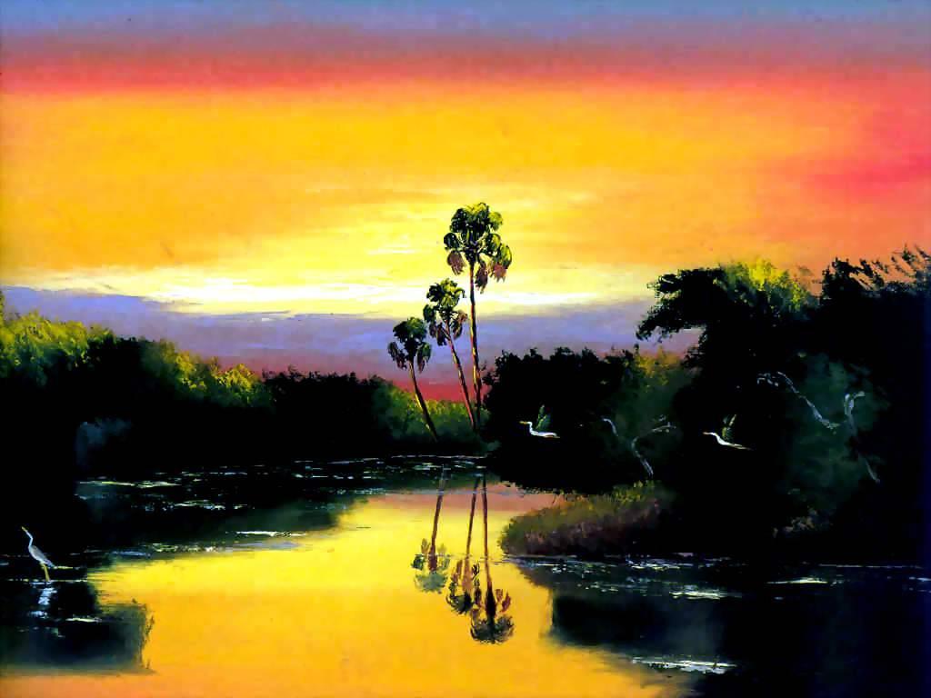 Езекий Бейкер. Тропический пейзаж 1