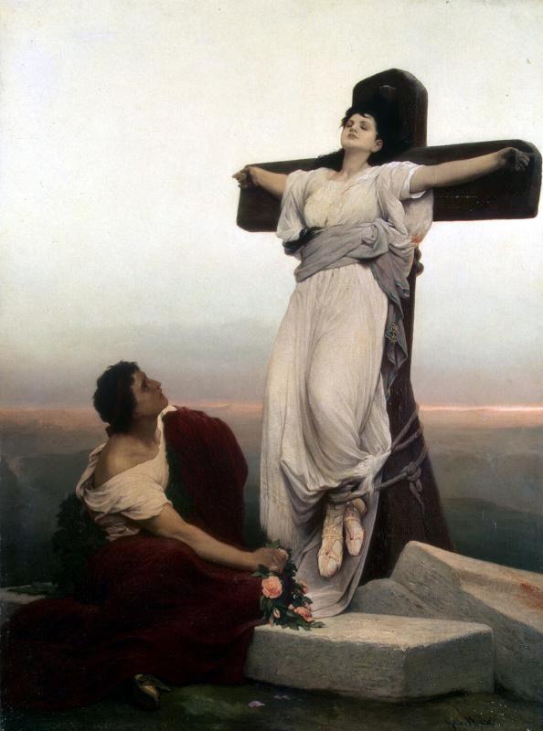 Габриэль Корнелиус фон Макс. Христианская мученица на кресте
