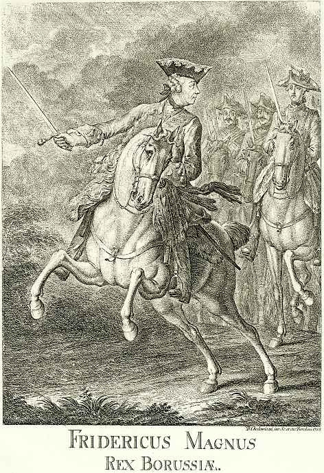 Даниэль  Николай Ходовецкий. Фридрих Великий на коне