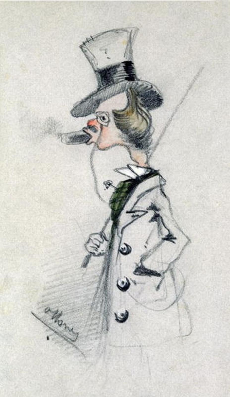 Клод Моне. Денди с сигарой