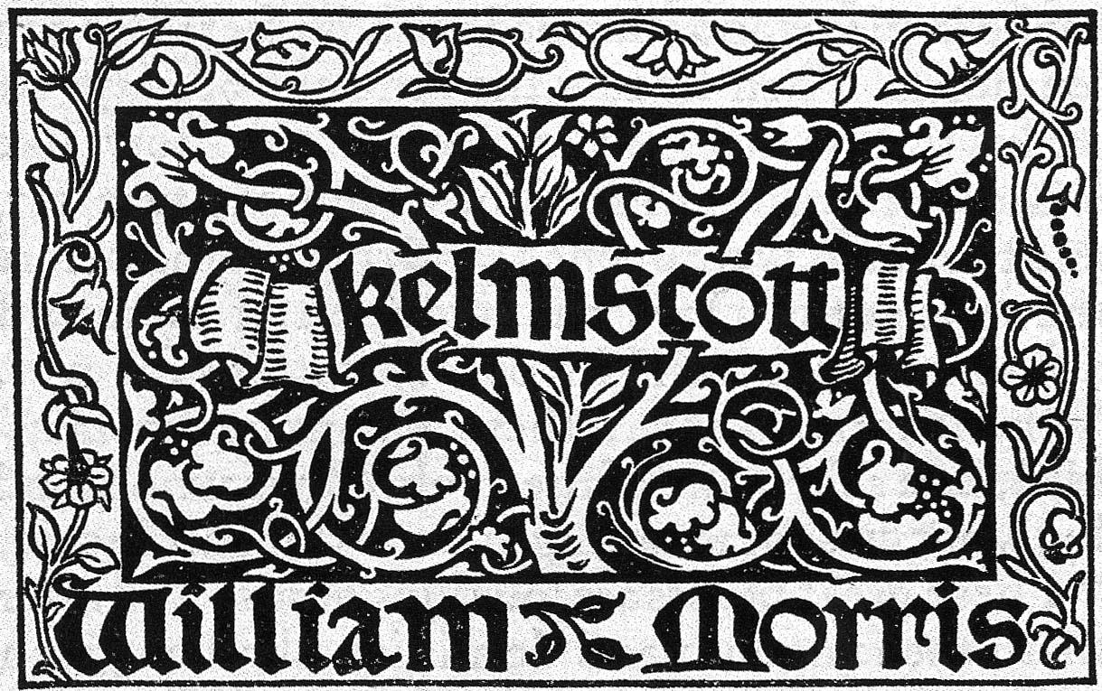 """William Morris. Colfon """"Kelmscott-press"""""""