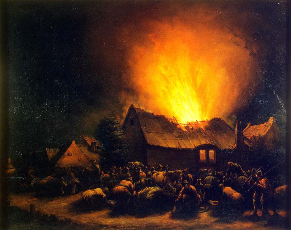 Эгберт Ливенс ван дер Пул. Пожар в деревне