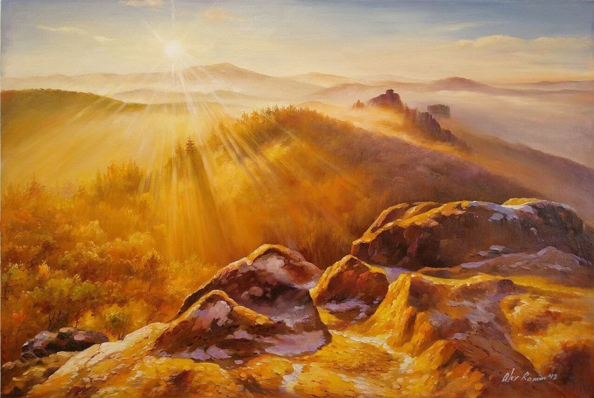 Savely Kamsky. Dawn in the mountains