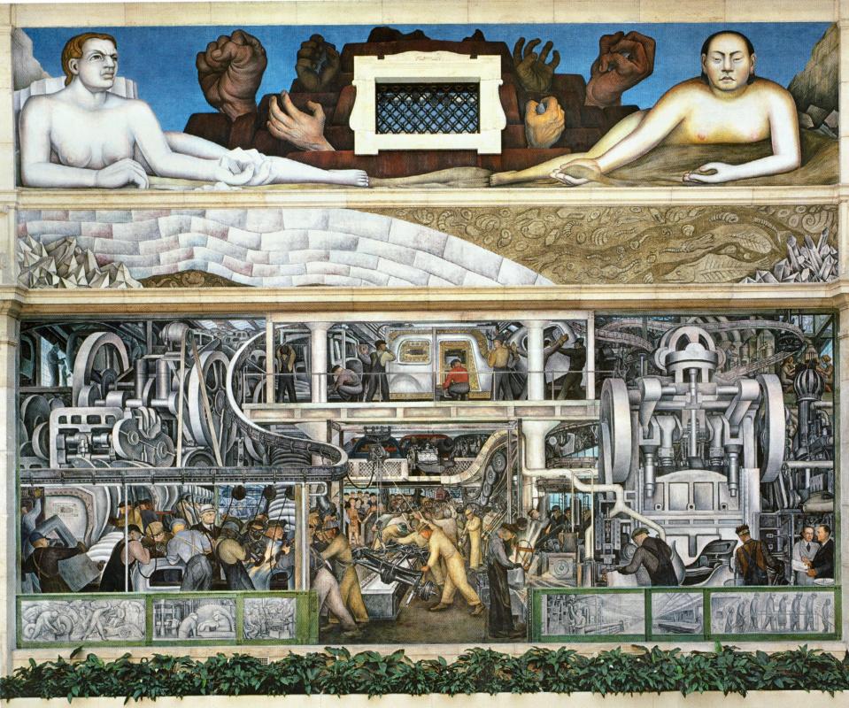 Диего Мария Ривера. Промышленность Детройта, южная стена