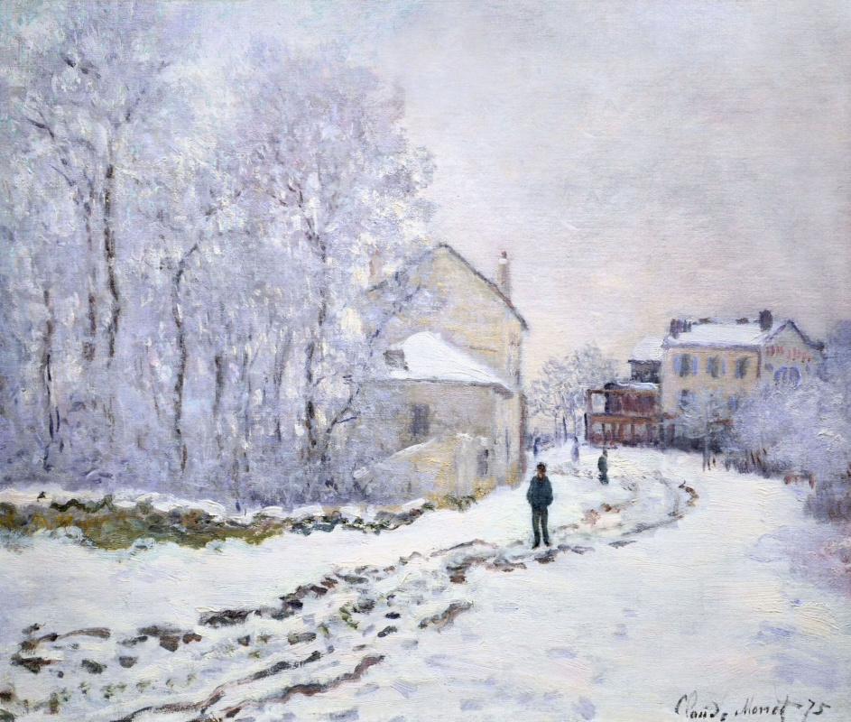 Клод Моне. Снег в Аржантее