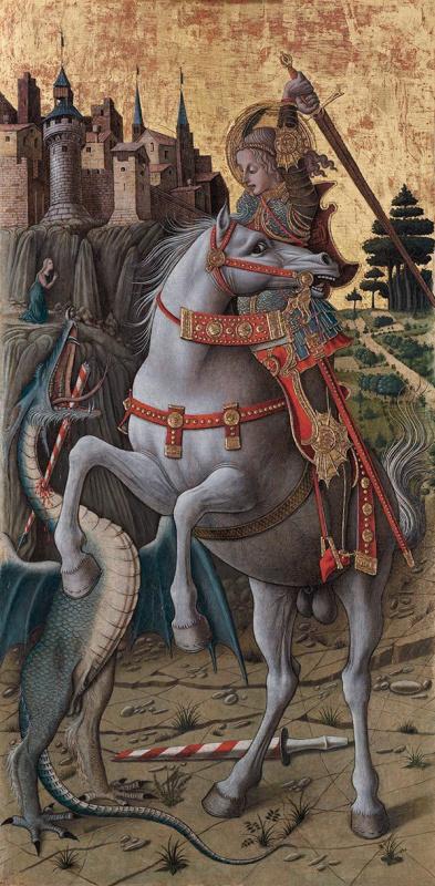 Карло Кривелли. Святой Георгий, убивающий дракона