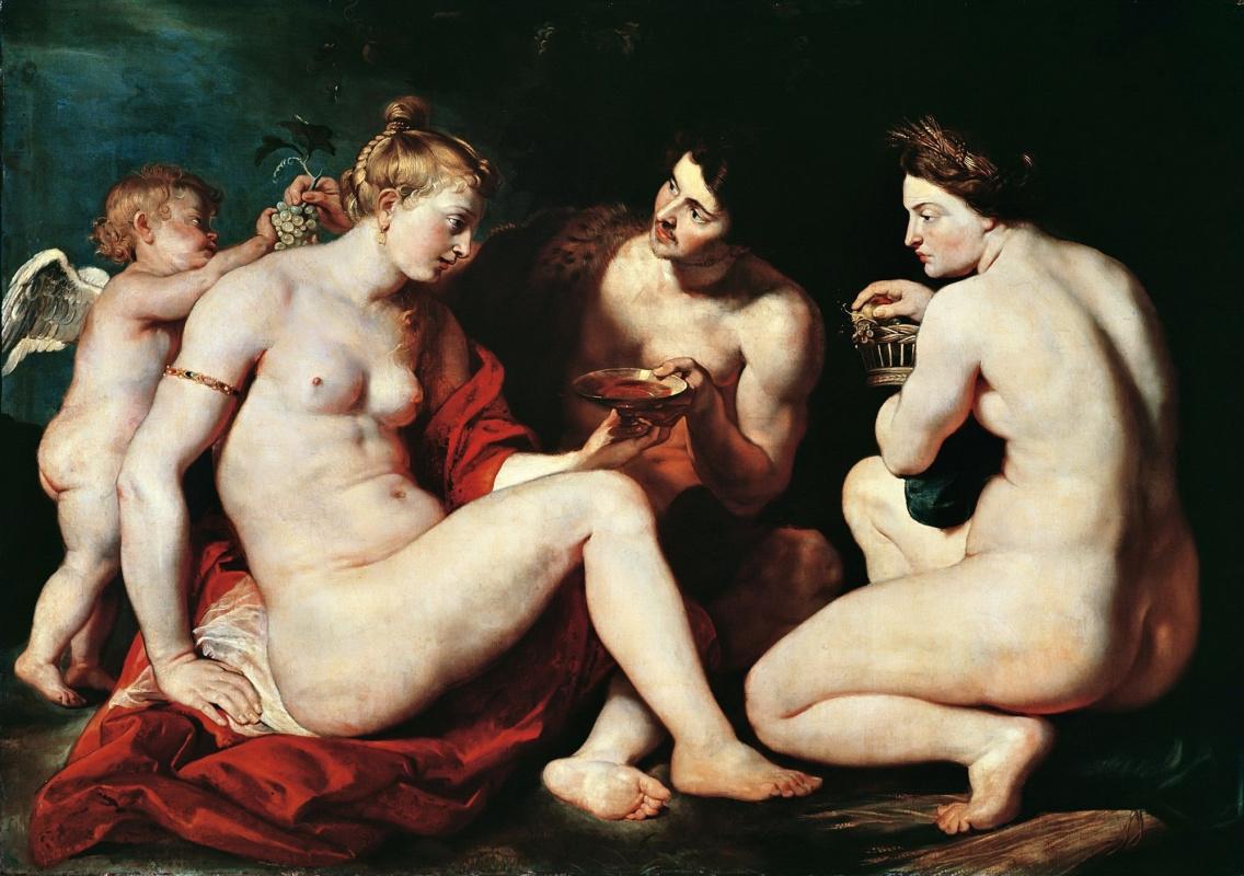 Peter Paul Rubens. Venus, Cupid, Bacchus and Ceres