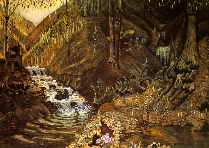 Burchfield. The flow of water