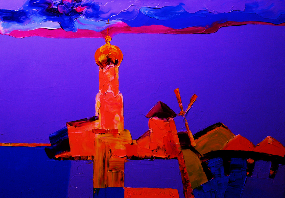 Alexander Ocher Kandinsky-DAE. Evening on the Kama River. (Solikamsk)