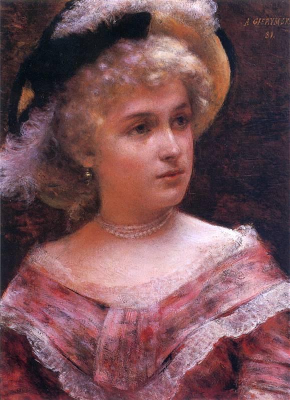 Alexander Gerymski. Portrait of a young woman