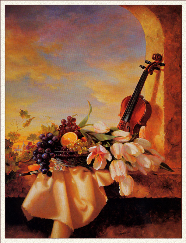 Ди Фран Джакомо. Натюрморт с белыми цветами