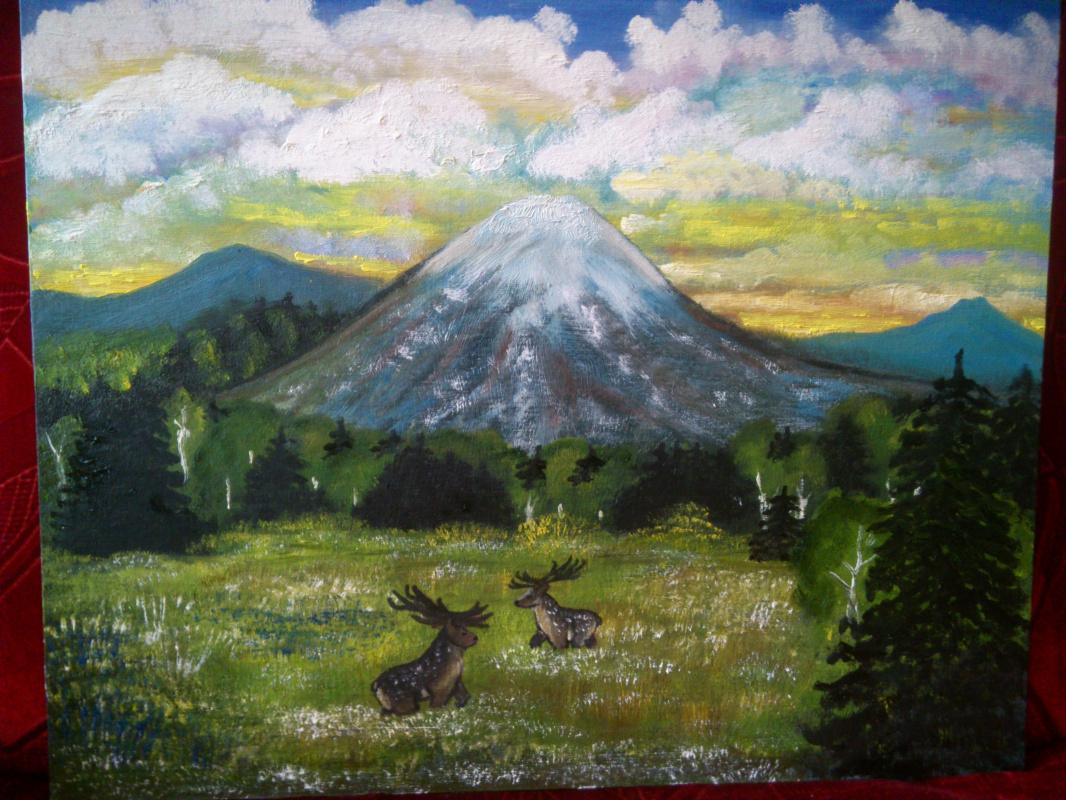 Irina Sergeevna Kononova. Mountain landscape