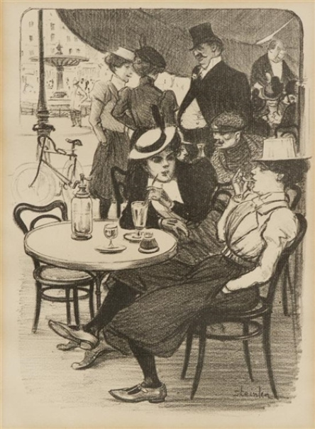 Theophile-Alexander Steinlen. A lunch meeting