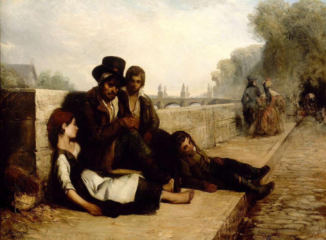 Philippe-Auguste Genre. Scene from Paris