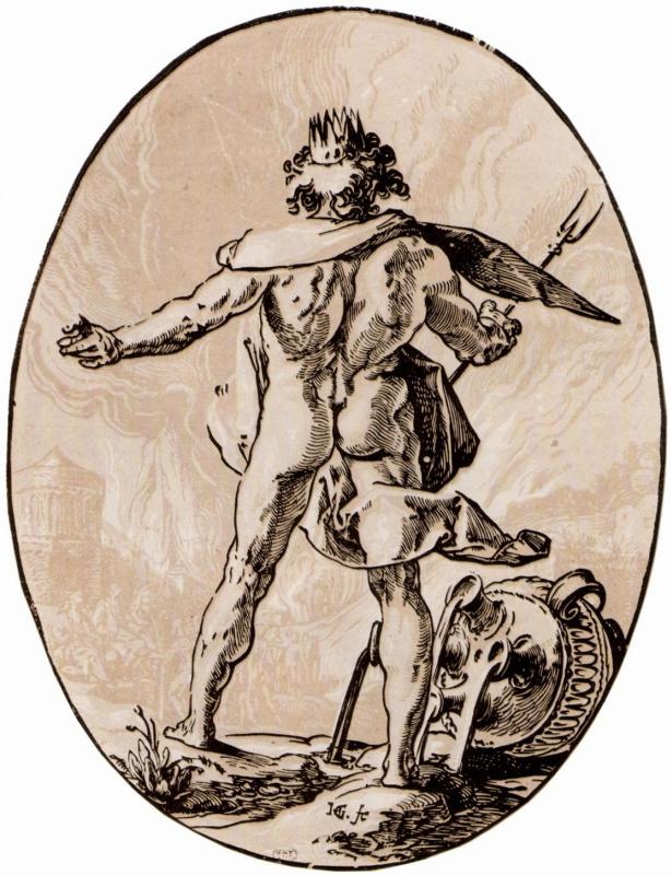Hendrik Goltzius. A series of Ancient gods, Pluto